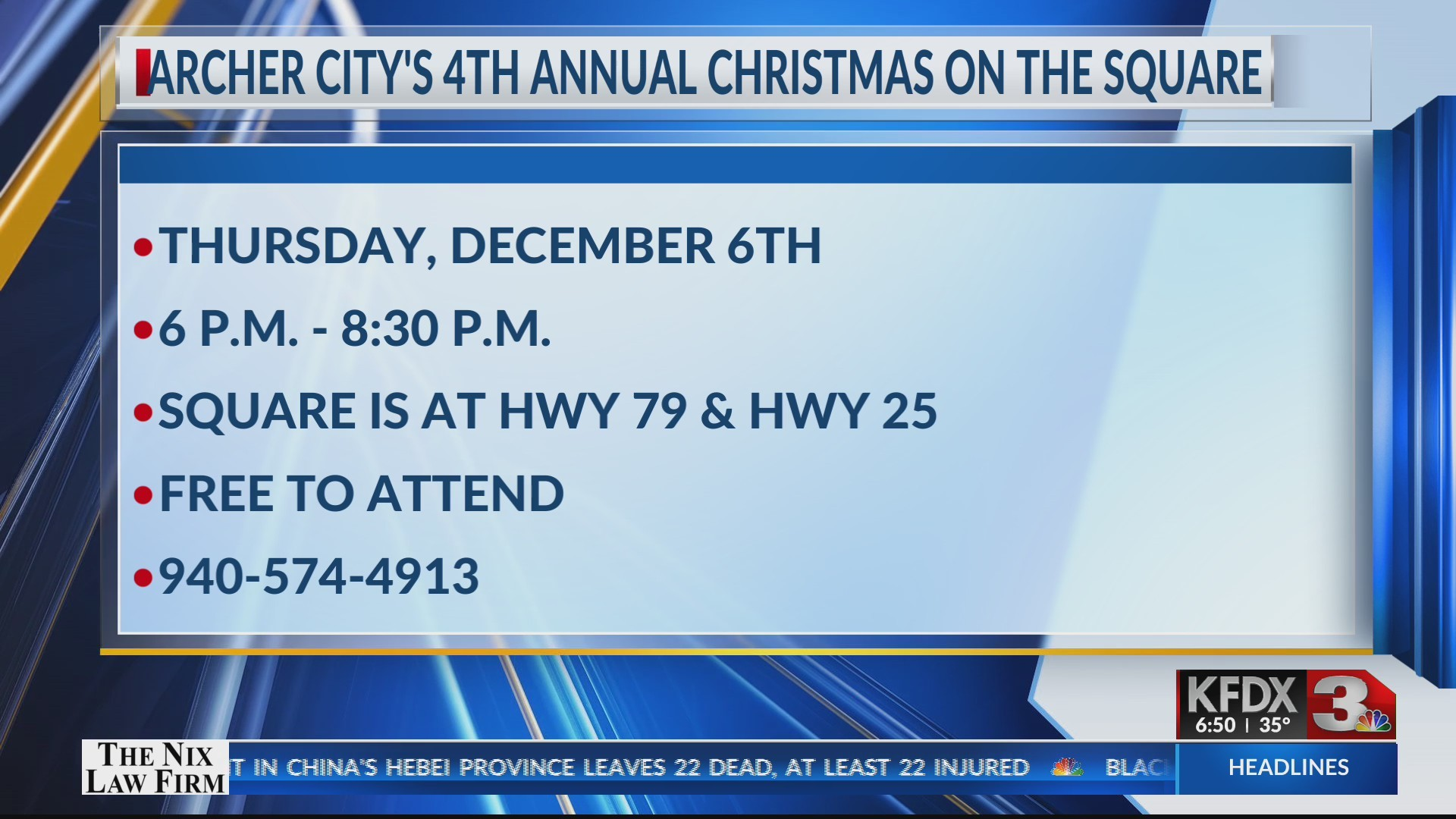 4th Annual Archer City's Christmas on the Square