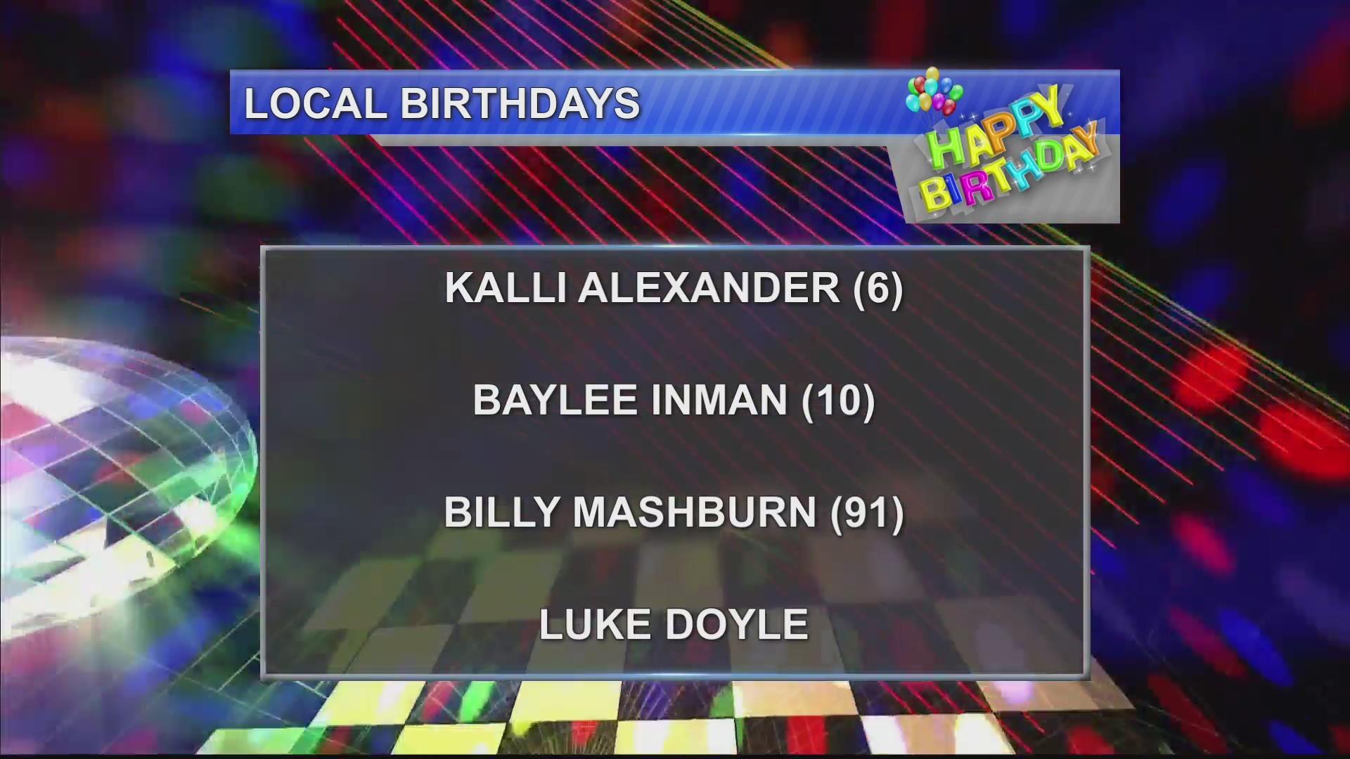 Birthdays 11/12/18