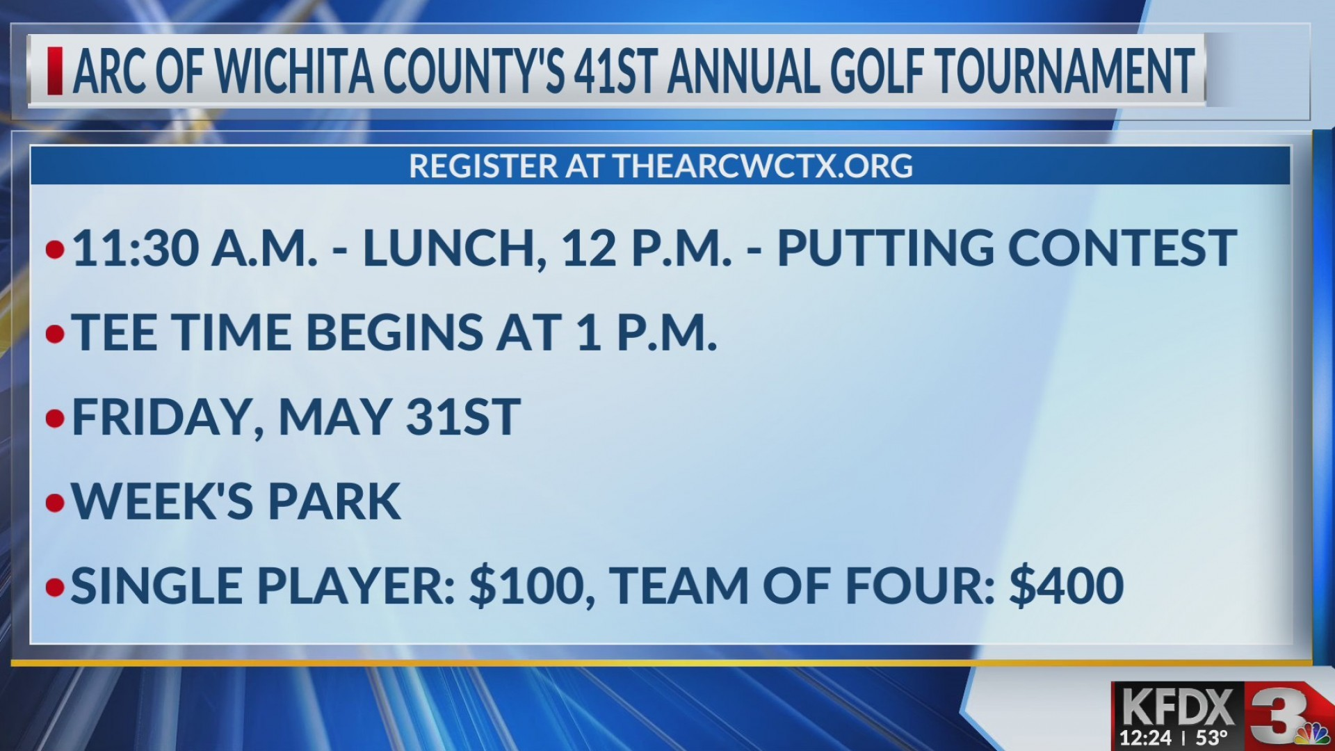41st Annual ARC Golf Tournament