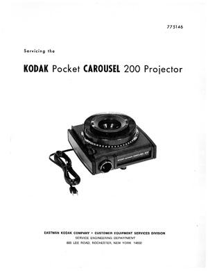Kodak Pocket Carousel 200 Slide Projector Service and
