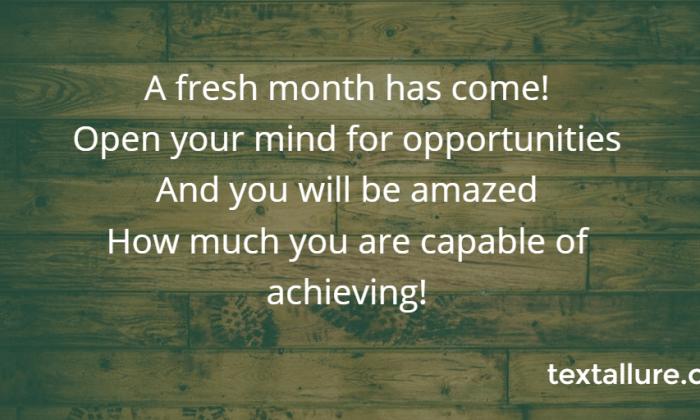 fresh new month