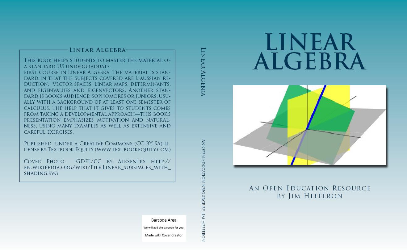 Linear algebra  Textbook Equity Open Education