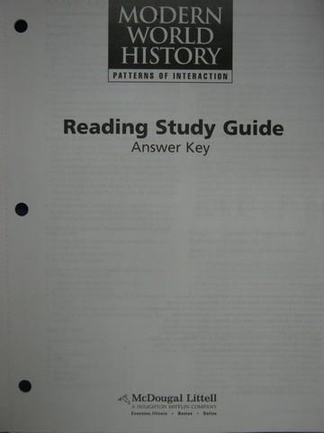 Modern World History Reading Study Guide Answer Key (P