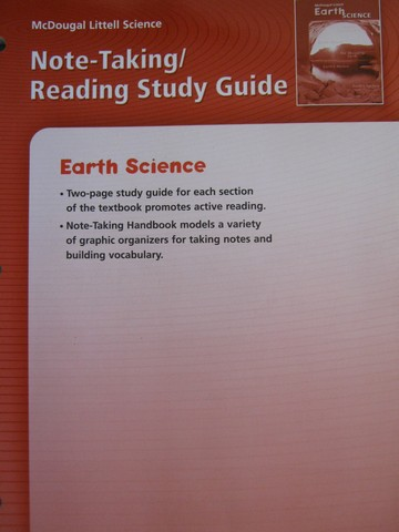 Earth Science Note-Taking Reading Study Guide (P