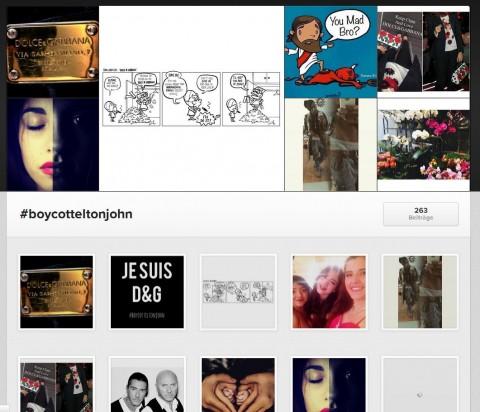 Und die zweite des Kampfes auf Instagram.