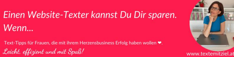 Website-Texter; Website Texter ja oder nein