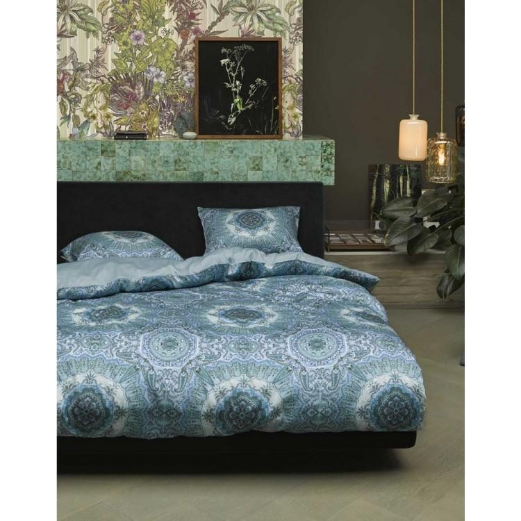 Essenza dekbedovertrek Cadiz satijn blauw  401075