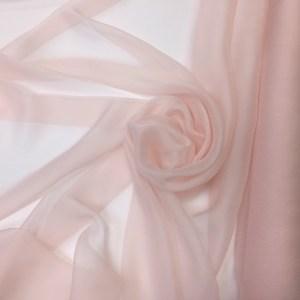 Voal creponat de matase naturala (muselina) roz pastel
