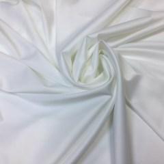 Satin gros elastic alb