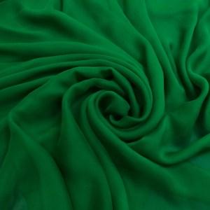 Voal creponat de matase naturala (muselina) verde