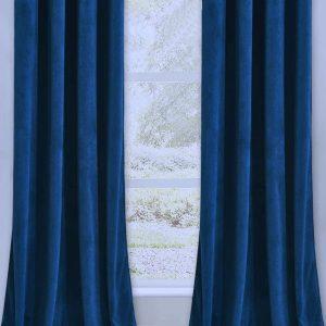 Catifea draperie albastru inchis