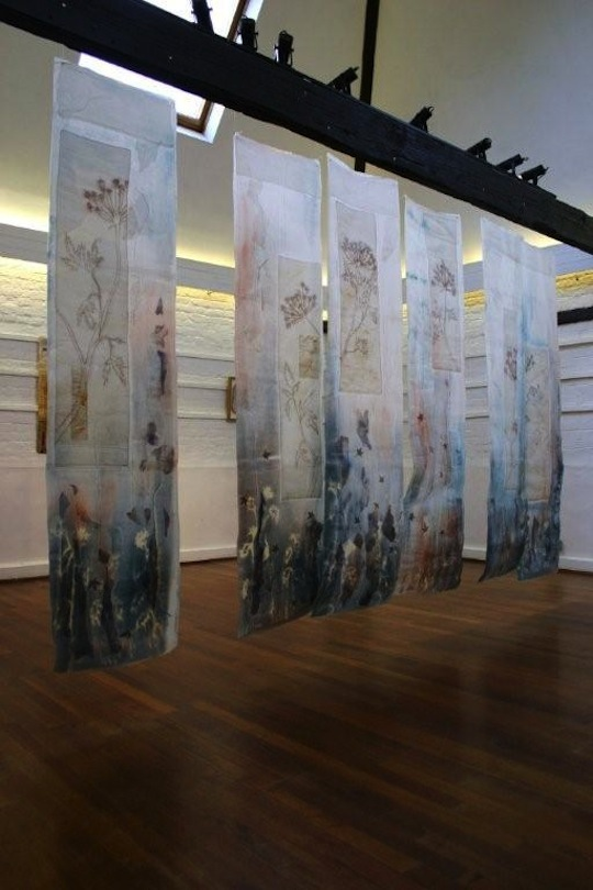Displaying and hanging textile art  TextileArtistorg
