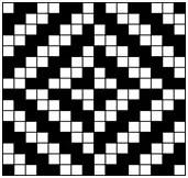 Diamond twill weave