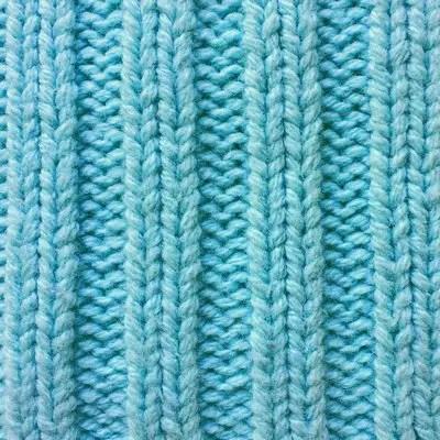 Rib stitch knit fabric