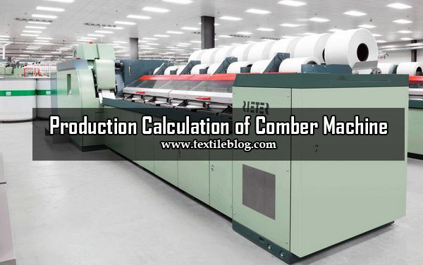 comber machine calculation