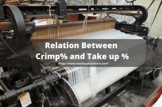Relation between Crimp% and Take up %