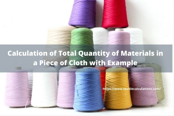 Count Conversion Calculation of Yarn from Direct & Indirect System to Universal Tex System