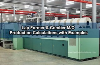 Comber Machine Production Calculations