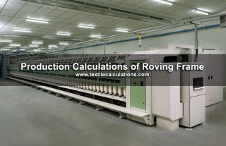 Roving Frame Production Calculations