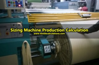 Sizing Machine Production Calculation