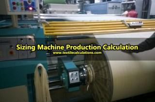 Sizing Machine Production Calculation