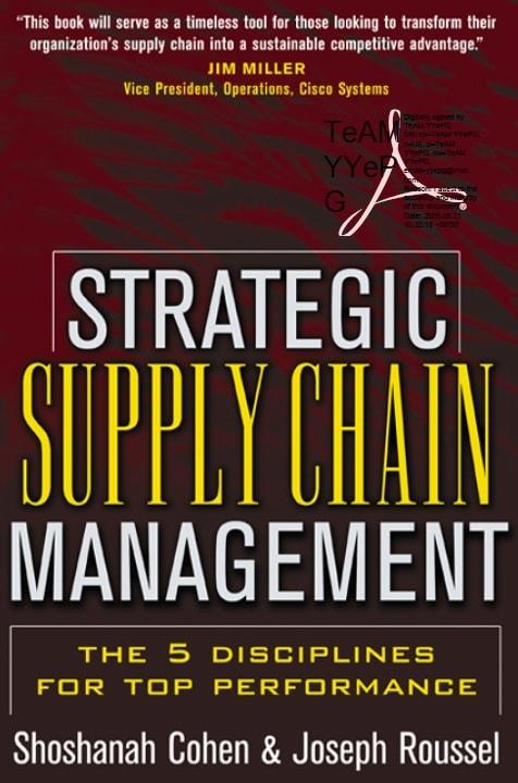 Strategic Supply Chain Management