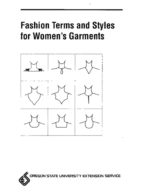 Fashion Terms and Styles for Women's Garments