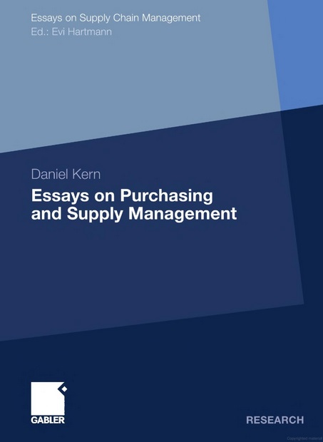 Essays on Purchasing and Supply Management