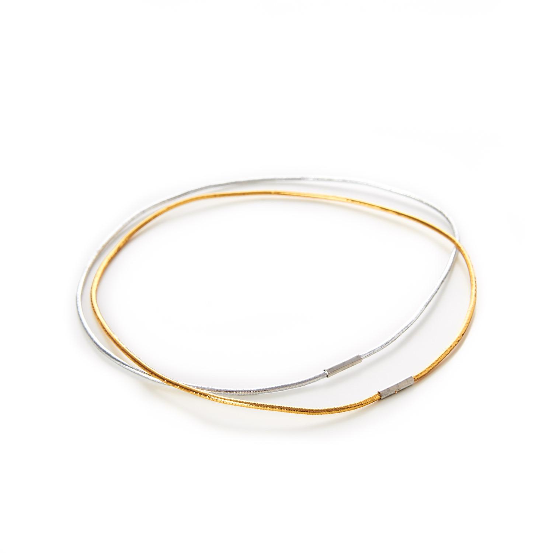 Decorative Menu Loops Gold & Silver Round Lurex Elastic