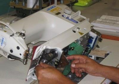 Process Flow Chart of Maintenance of a Sewing Machine