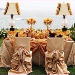 Brown Chair Covers Corner With Ottoman Style Of Wedding For A Romantic