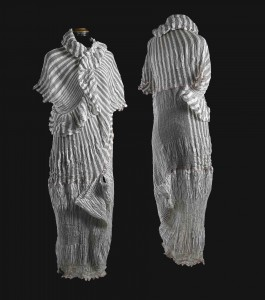 One-of-a-kind garment with hand-woven fabric by Lotte Dalgaard