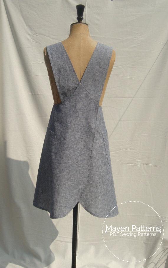 The Maria Wrap Apron Textillia Online Sewing Community