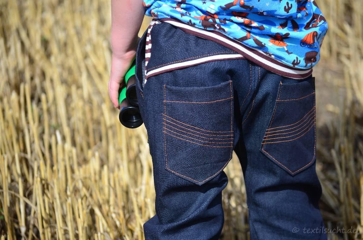 Cowboy-Shirt und Upcycling-Jeans - Für Jungs genäht - Bild 2   textilsucht.de