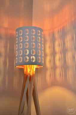 Eine selbstgebaute Designerlampe aus Buchenholz - Bild 2 | textilsucht.de