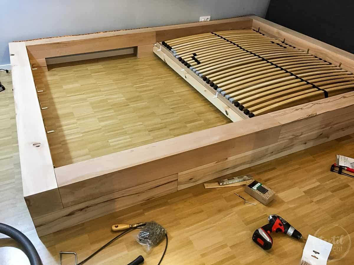massivholz bett selber bauen ] | massivholz bett selber bauen