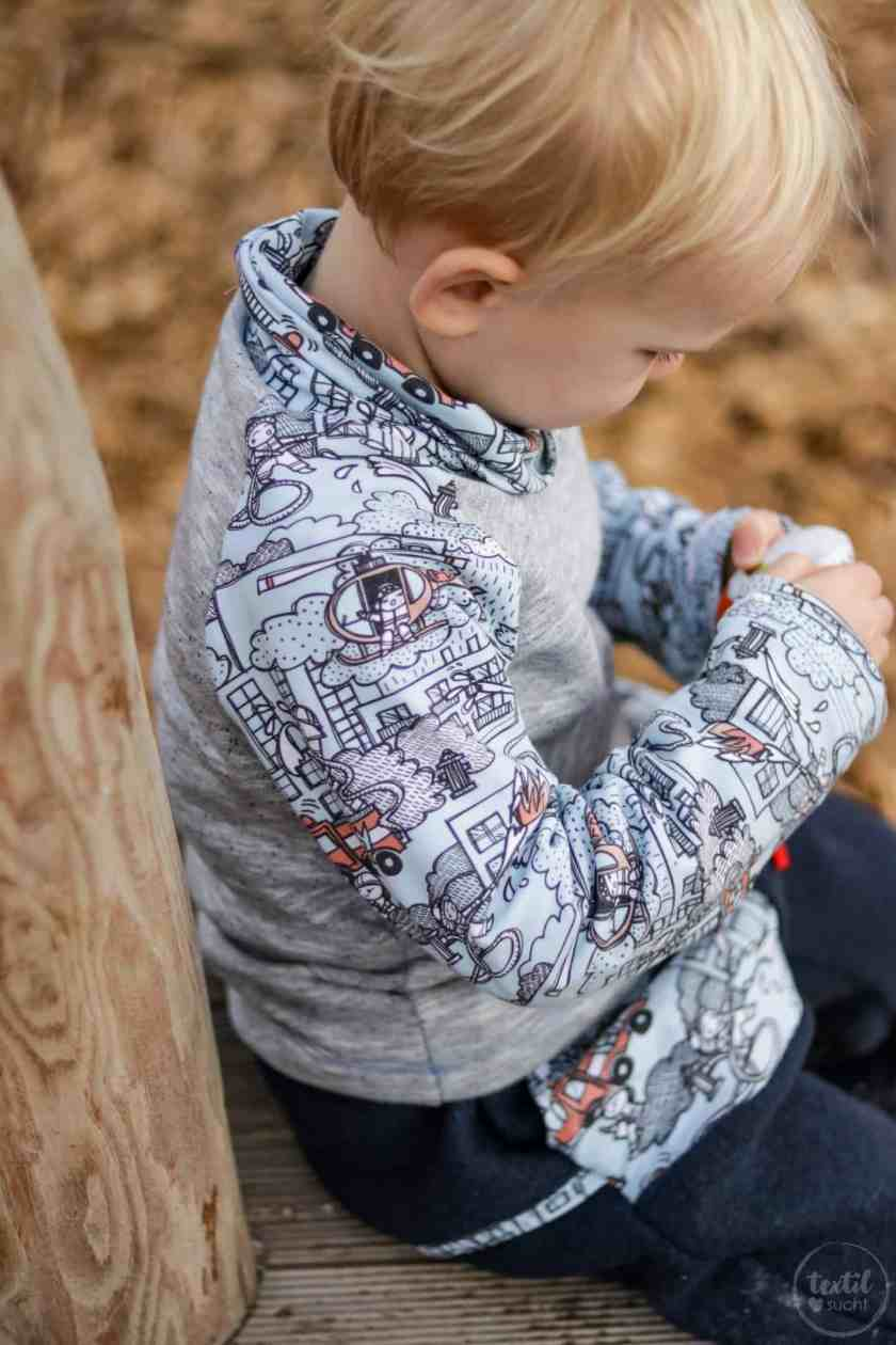 Kinderoutfit aus Walkhose und Sweater nähen - Bild 2 – textilsucht.de