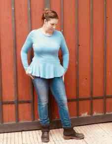 Schnittmuster Volant Shirt Nastja von Textilsucht