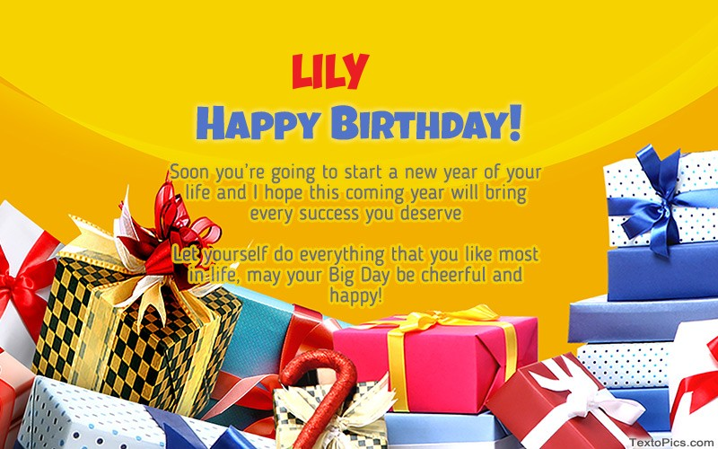 Happy Birthday Lily pictures congratulations.