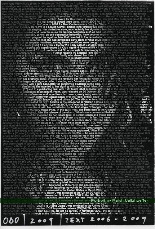 Amy Winehouse, Ralph Ueltzhoeffer Textportrait