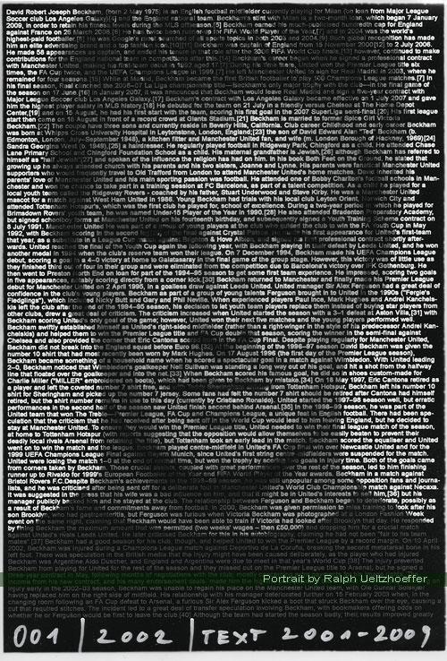 David Beckham, Ralph Ueltzhoeffer Textportrait