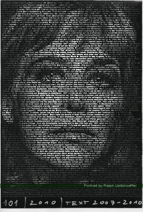 Hildegard Knef, Ralph Ueltzhoeffer Textportrait