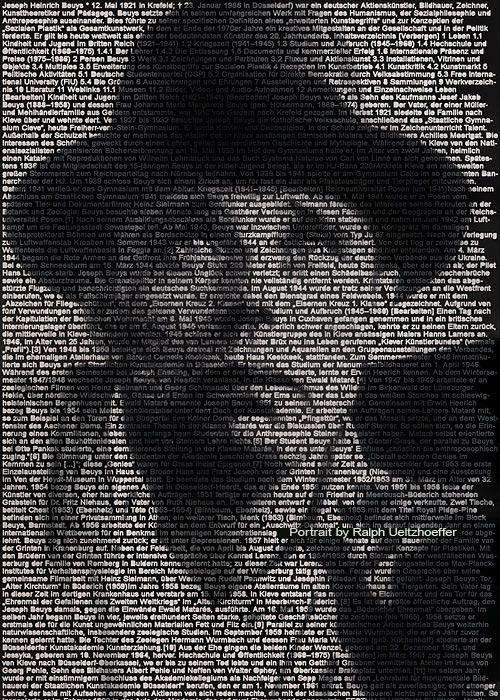 Joseph Beuys, Text Portrait, Ralph Ueltzhoeffer (*1921)