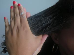 Installing perm rods on natural hair