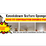 Contractor Double Pack for Matching Knockdown Texture Sponge
