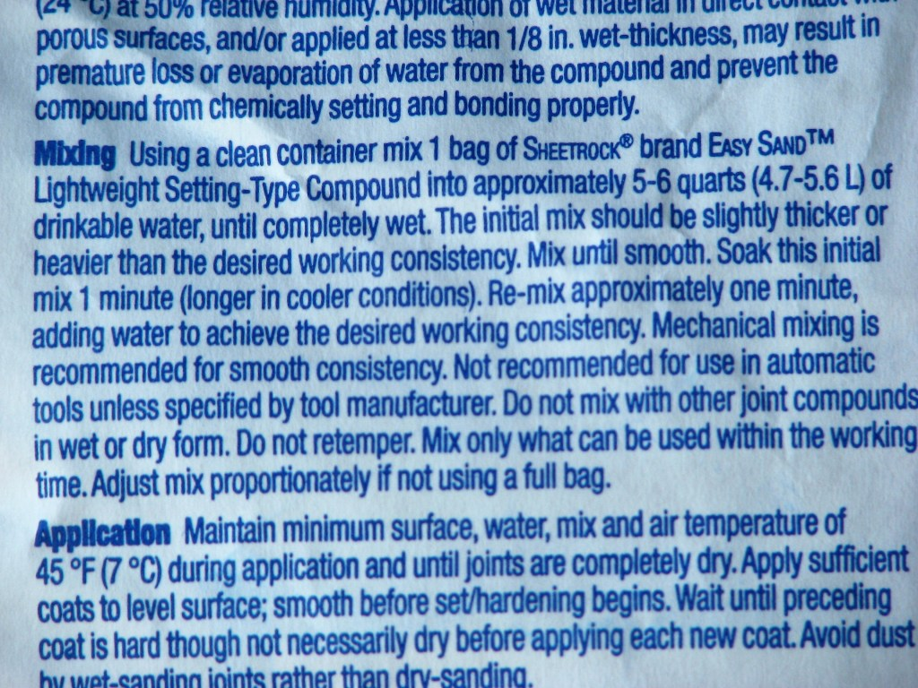 Hot Mud Mixing Instructions