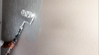 How to get rid of ugly drywall texture with a Skim Coat ...