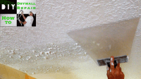 How to match knockdown texture on a drywall ceiling repair ...