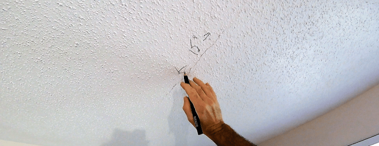 How to repair a cracked drywall ceiling repair forever