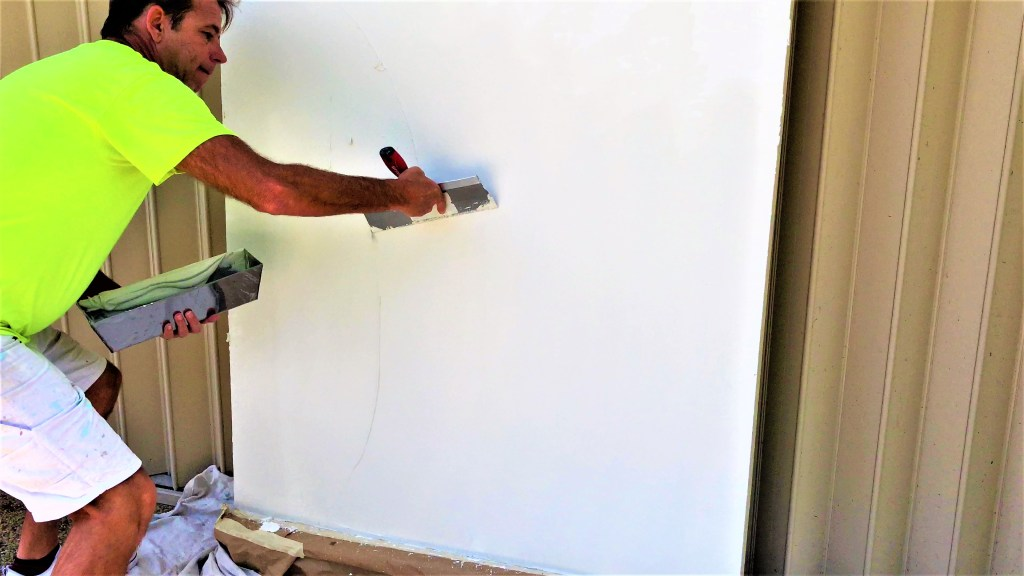 How to easily skim coat a wall by hand!